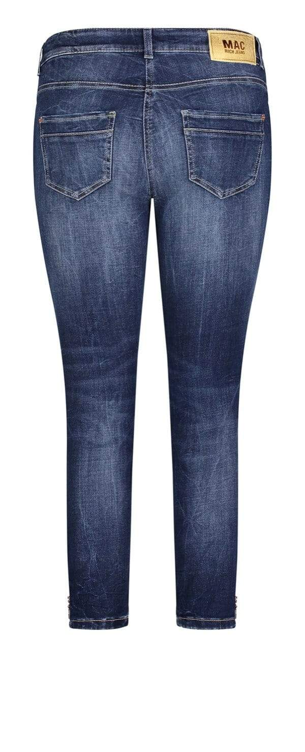 Mac Jeans Jeans Mac Dream Slim 5755 Jeans D671 Dark Blue Net Wash izzi-of-baslow