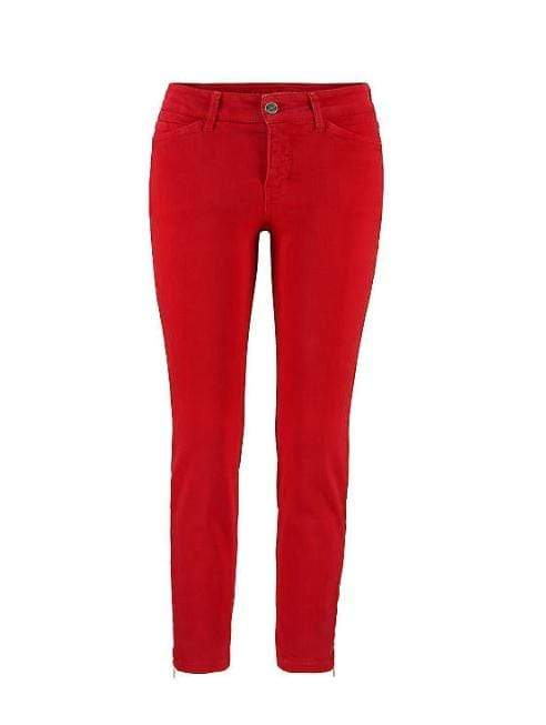 Mac Jeans Trousers Mac Dream Chic Jeans 5471 With Zips Red 0355 452R izzi-of-baslow