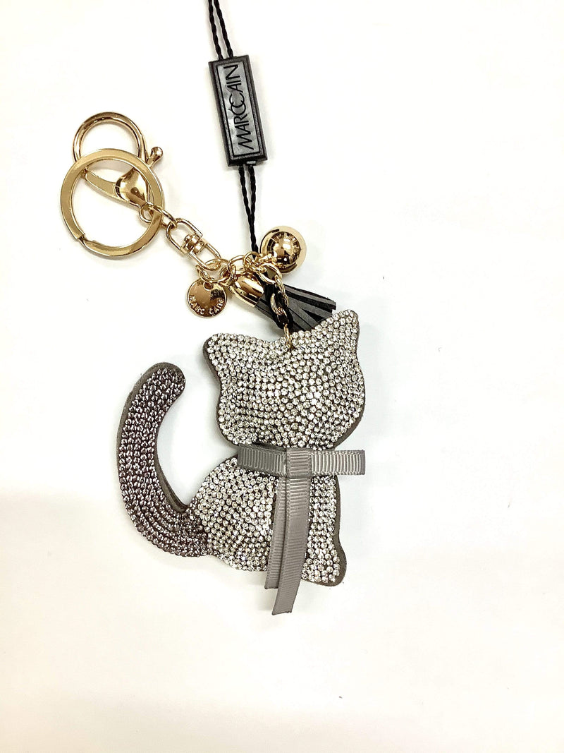 Marc Cain Accessories One Size Marc Cain Diamantee Cat Key Ring/Bag Charm GA G7.04 Z08 izzi-of-baslow
