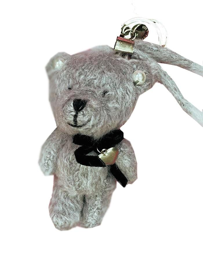 Marc Cain Accessories One Size Marc Cain Grey Teddy Keyring KC G7.06 Z21 821 izzi-of-baslow