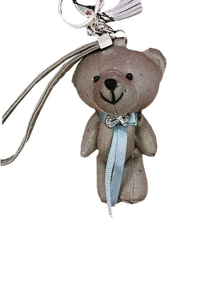 Marc Cain Accessories One Size Marc Cain Taupe Spotty Teddy Keyring GA G7.06 Z09 665 izzi-of-baslow