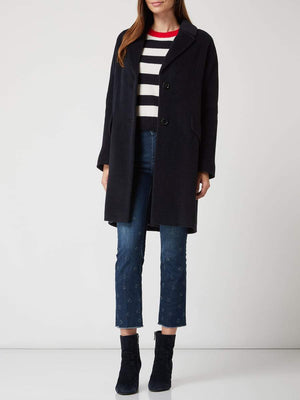 Marc Cain Additions Coats and Jackets Marc Cain Additions Soft Black Coat MA 11.18 W06 izzi-of-baslow