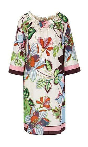 Marc Cain Additions Dresses 1 Marc Cain Additions Dress with silk NA 21.09 W08 izzi-of-baslow
