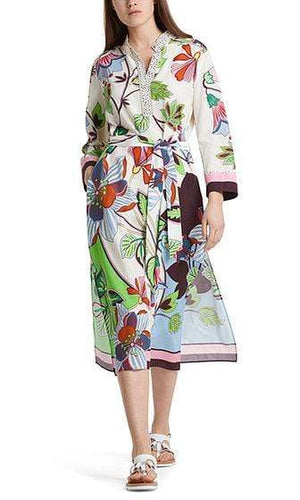 Marc Cain Additions Dresses Marc Cain Additions Dress with silk NA 21.12 W08 izzi-of-baslow