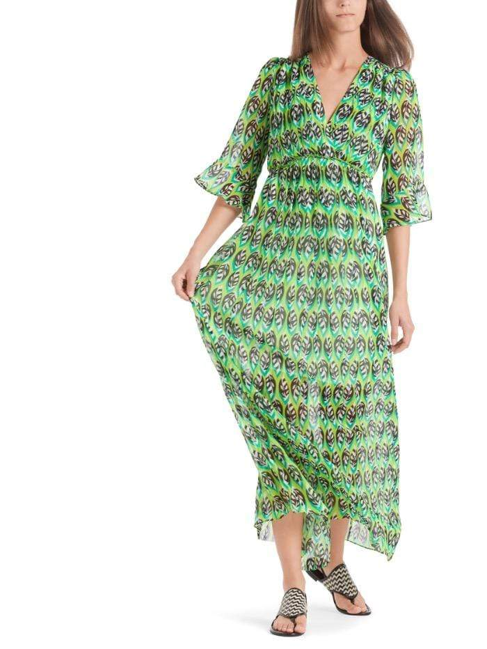 Marc Cain Additions Dresses Marc Cain Additions Green Patterned Maxi Dress QA 21.22 W10 534 izzi-of-baslow