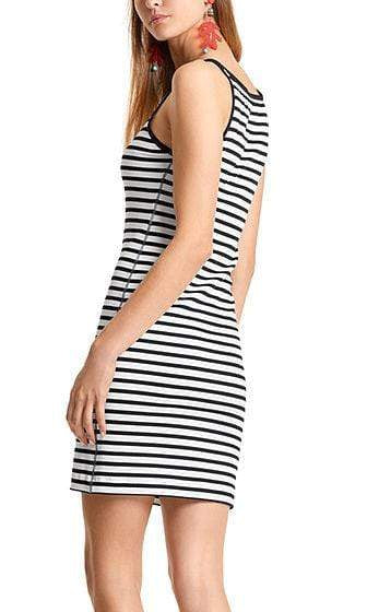 Marc Cain Additions Dresses Marc Cain Collection Striped Dress  LC 21.24 J90 izzi-of-baslow