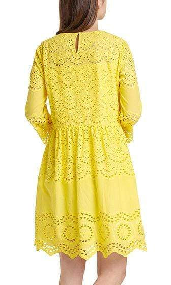 Marc Cain Additions Dresses Marc Cain Lemon Dress with eyelet lace NA 21.08 W10 izzi-of-baslow