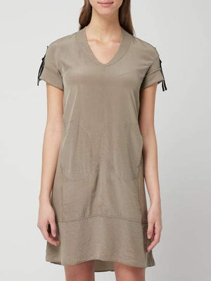 Marc Cain Additions Dresses Marc Cain Sports Khaki Dress LS 21.37 J67 izzi-of-baslow