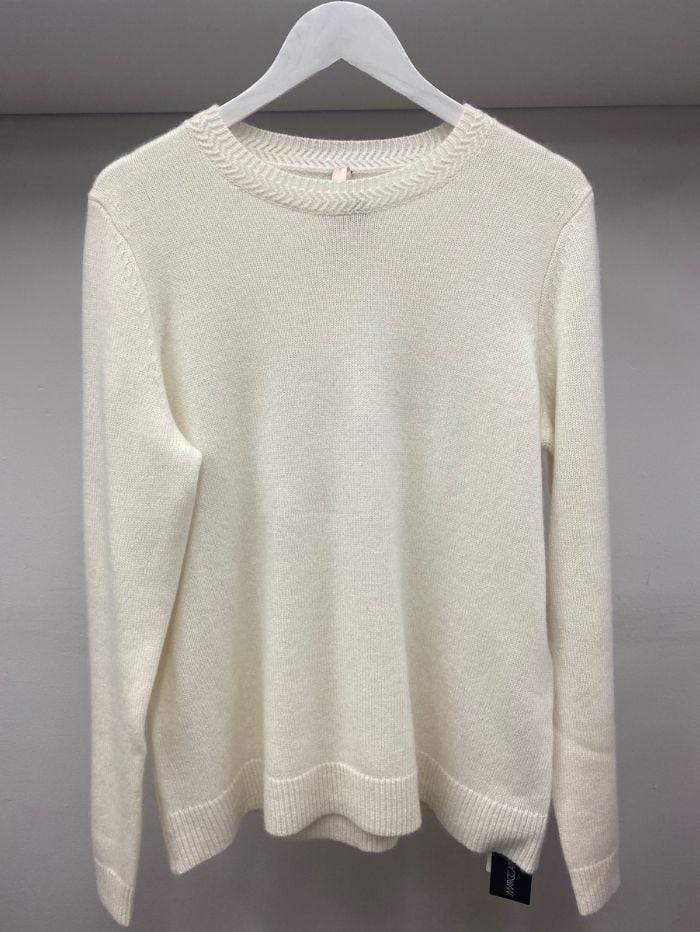 Marc Cain Additions Knitwear Marc Cain Additions Wool Cashmere Blend Cream Jumper 110 PA 41.13 M84 izzi-of-baslow
