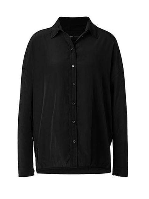 Marc Cain Additions Tops 5 Marc Cain Sports Flowing Microfibre Blouse Black LS 51.07 W76 izzi-of-baslow