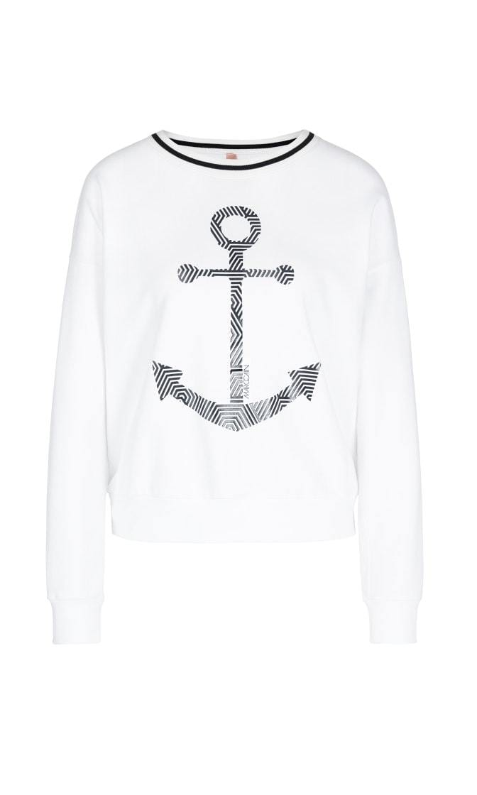 Marc Cain Additions Tops Marc Cain Additions Nautical White Sweatshirt NA 44.04 J14 izzi-of-baslow