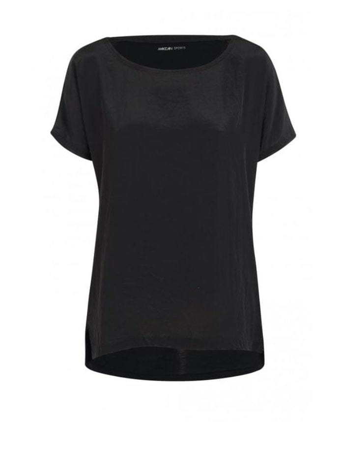 Marc Cain Additions Tops Marc Cain Sports Top Mixed Materials LS 55.04 W76 Black izzi-of-baslow
