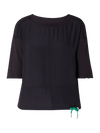 Marc Cain Additions Tops Marc Cain Sports Top Mixed Materials LS 55.17 J67 Midnight Blue izzi-of-baslow