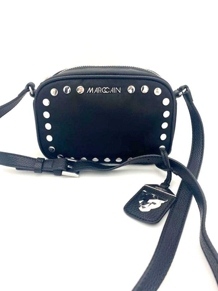 Marc Cain Collections Accessories One Size Marc Cain Black Silver Studded Cross Body Bag KB TI.19 W14 izzi-of-baslow