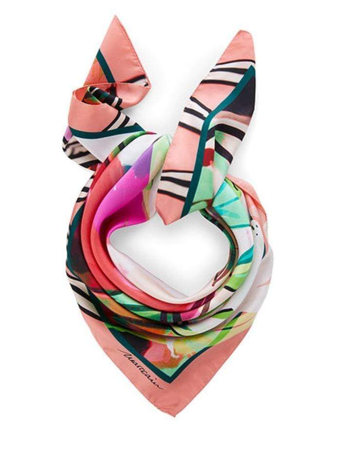 Marc Cain Collections Accessories One Size Marc Cain Collections Pretty Printed Scarf QC B1.04 Z03 224 Y izzi-of-baslow