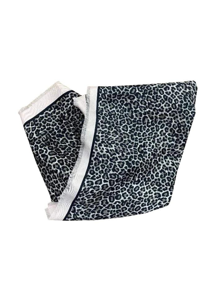 Marc Cain Collections Accessories One Size Marc Cain Collections Square Leopard Print Scarf JS B1.05 Z08 col 669 izzi-of-baslow