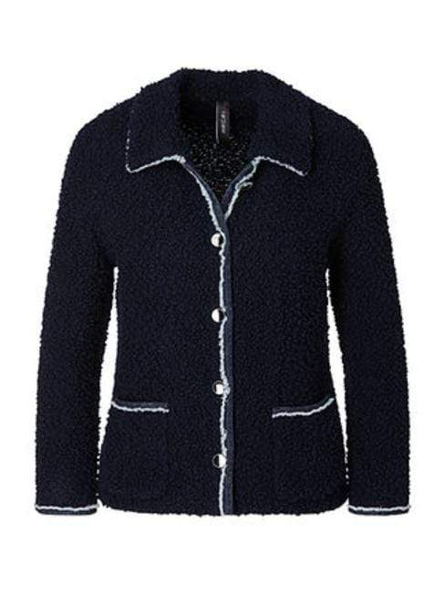 Marc Cain Collections Coats and Jackets 1 Marc Cain Collections Boucle Jacket Midnight Blue MC 31.15 M24 izzi-of-baslow