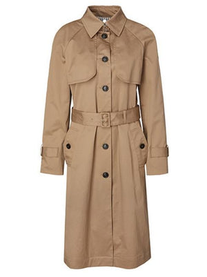 Marc Cain Collections Coats and Jackets 2 Marc Cain Collections Classic Trench Coat MC 11.04 W17 White Coffee izzi-of-baslow