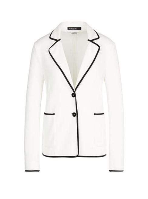 Marc Cain Collections Coats and Jackets 2 Marc Cain Collections Elegant Blazer Off-White NC 31.36 J02 izzi-of-baslow