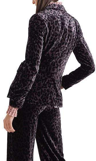 Marc Cain Collections Coats and Jackets Marc Cain Collections Blazer in Leopard Velvet 295 PC 34.17 W58 izzi-of-baslow