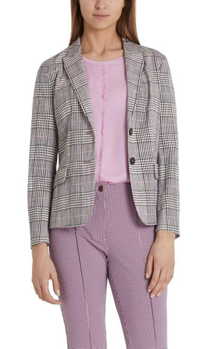 Marc Cain Collections Coats and Jackets Marc Cain Collections Blazer with Jacquard Pattern PC 34.16 W19 izzi-of-baslow