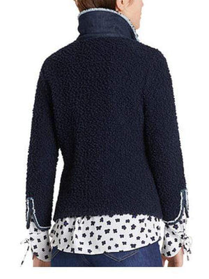 Marc Cain Collections Coats and Jackets Marc Cain Collections Boucle Jacket Midnight Blue MC 31.15 M24 izzi-of-baslow