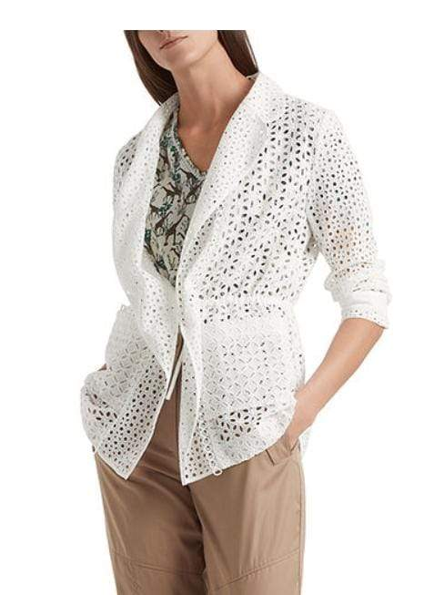 Marc Cain Collections Coats and Jackets Marc Cain Collections Broderie Anglaise Off-White NC 34.28 W69 izzi-of-baslow