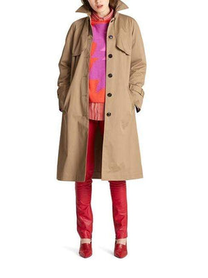 Marc Cain Collections Coats and Jackets Marc Cain Collections Classic Trench Coat MC 11.04 W17 White Coffee izzi-of-baslow