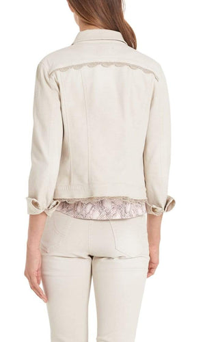 Marc Cain Collections Coats and Jackets Marc Cain Collections Denim Jacket with Lace Trim PC 31.23 D09 izzi-of-baslow