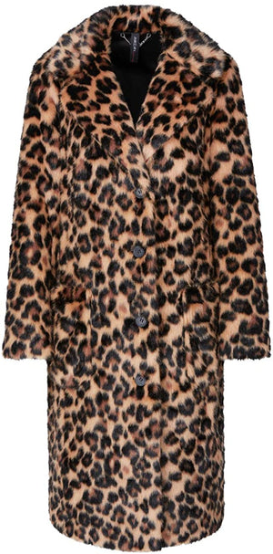 Marc Cain Collections Coats and Jackets Marc Cain Collections Faux Fur Animal Print Coat MC 11.08 W93 izzi-of-baslow
