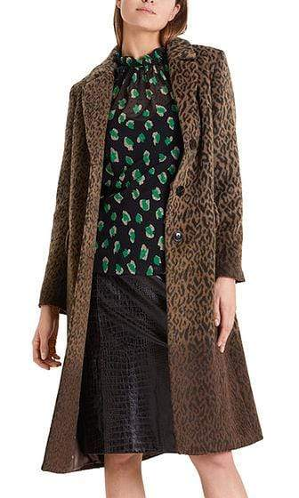 Marc Cain Collections Coats and Jackets Marc Cain Collections Fluffy Leopard Coat PC 11.15 W28 izzi-of-baslow