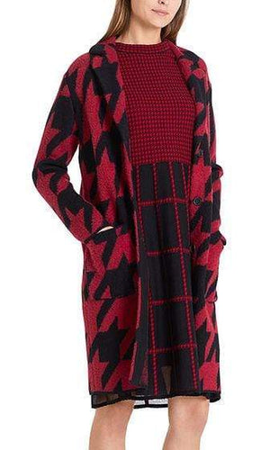 Marc Cain Collections Coats and Jackets Marc Cain Collections Knitted Houndstooth Coat PC 11.11 M17 izzi-of-baslow