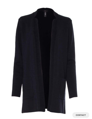 Marc Cain Collections Coats and Jackets Marc Cain Collections long Jacket in Navy PC 31.21 M28 izzi-of-baslow
