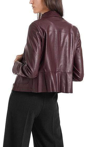 Marc Cain Collections Coats and Jackets Marc Cain Collections Vegan Leather Jacket 295 PC 31.66 J78 izzi-of-baslow