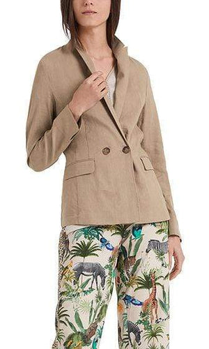 Marc Cain Collections Coats and Jackets Marc Cain Lightweight blazer in linen blend NC 34.29 W47 izzi-of-baslow