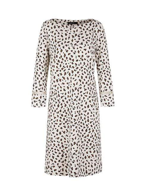 Marc Cain Collections Dresses 1 Marc Cain Collections Leopard Print Jersey Dress Cuban Sand NC 21.57 J33 izzi-of-baslow
