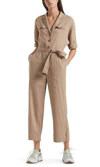 Marc Cain Collections Dresses 1 Marc Cain Linen overall with safari details NC 29.03 W47 izzi-of-baslow