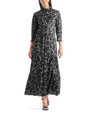 Marc Cain Collections Dresses Marc Cain Collections Giraffe Printed Dress QC 21.44 W64 837 izzi-of-baslow