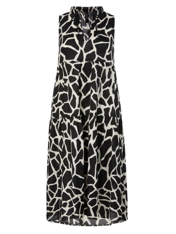 Marc Cain Collections Dresses Marc Cain Collections Giraffe Printed Dress QC 21.56 W64 115 izzi-of-baslow