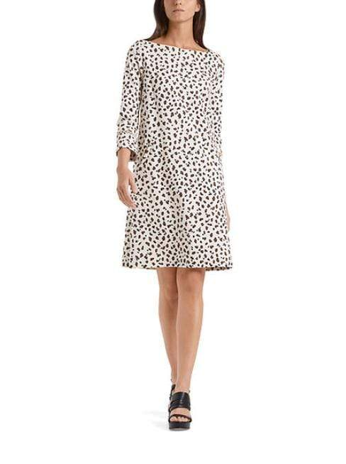 Marc Cain Collections Dresses Marc Cain Collections Leopard Print Jersey Dress Cuban Sand NC 21.57 J33 izzi-of-baslow