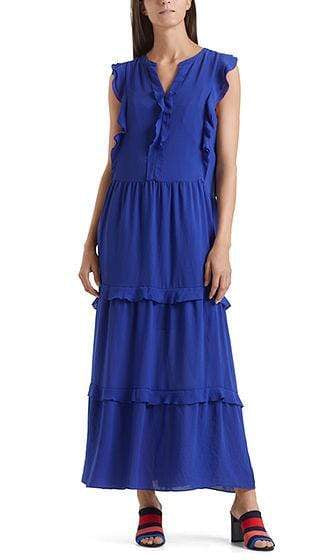 Marc Cain Collections Dresses Marc Cain Collections Maxi dress with feminine flounces NC 21.60 W30 izzi-of-baslow