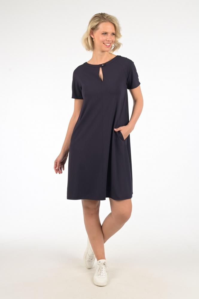 Marc Cain Collections Dresses Marc Cain Collections Navy Jersey dress NC 21.56 J62 izzi-of-baslow
