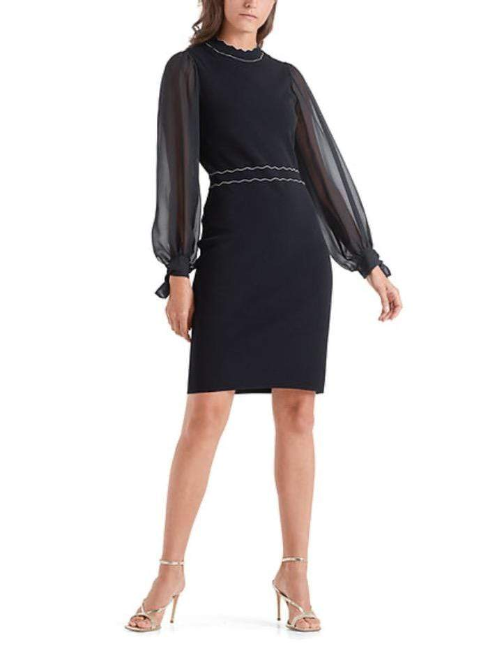 Marc Cain Collections Dresses Marc Cain Collections Navy Knitted Dress QC 21.16 M21 395 izzi-of-baslow