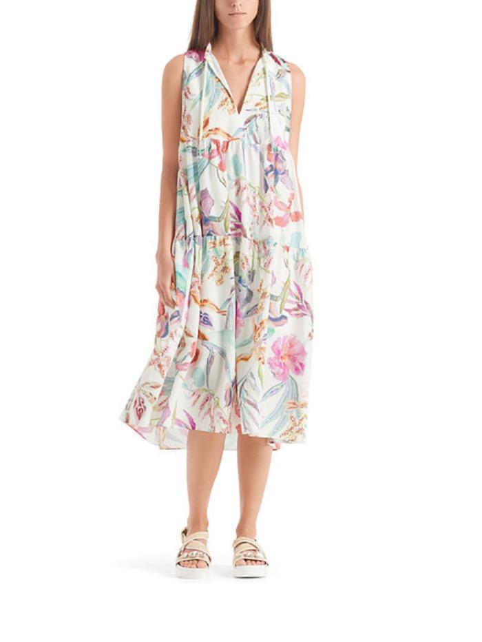Marc Cain Collections Dresses Marc Cain Collections Pretty Floral Printed Maxi Dress QC 21.56 W73 702 y izzi-of-baslow