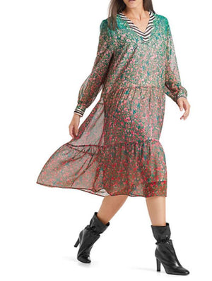 Marc Cain Collections Dresses Marc Cain Collections Printed Boho Dress QC 21.02 W12 224 Y izzi-of-baslow