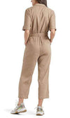 Marc Cain Collections Dresses Marc Cain Linen overall with safari details NC 29.03 W47 izzi-of-baslow