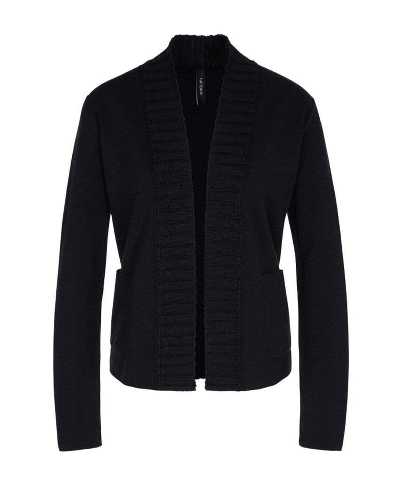 Marc Cain Collections Knitwear Marc Cain Collections Knitted Jacket Black NC 31.05 M28 izzi-of-baslow