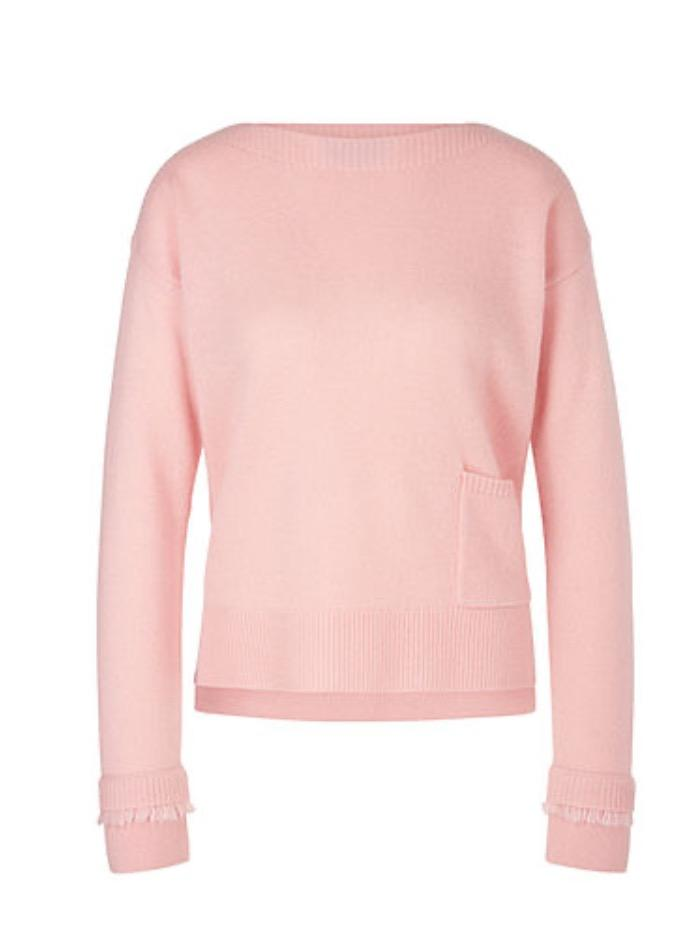 Marc Cain Collections Knitwear Marc Cain Collections Pale Pink Jumper QC 41.06 M84 213 Y izzi-of-baslow
