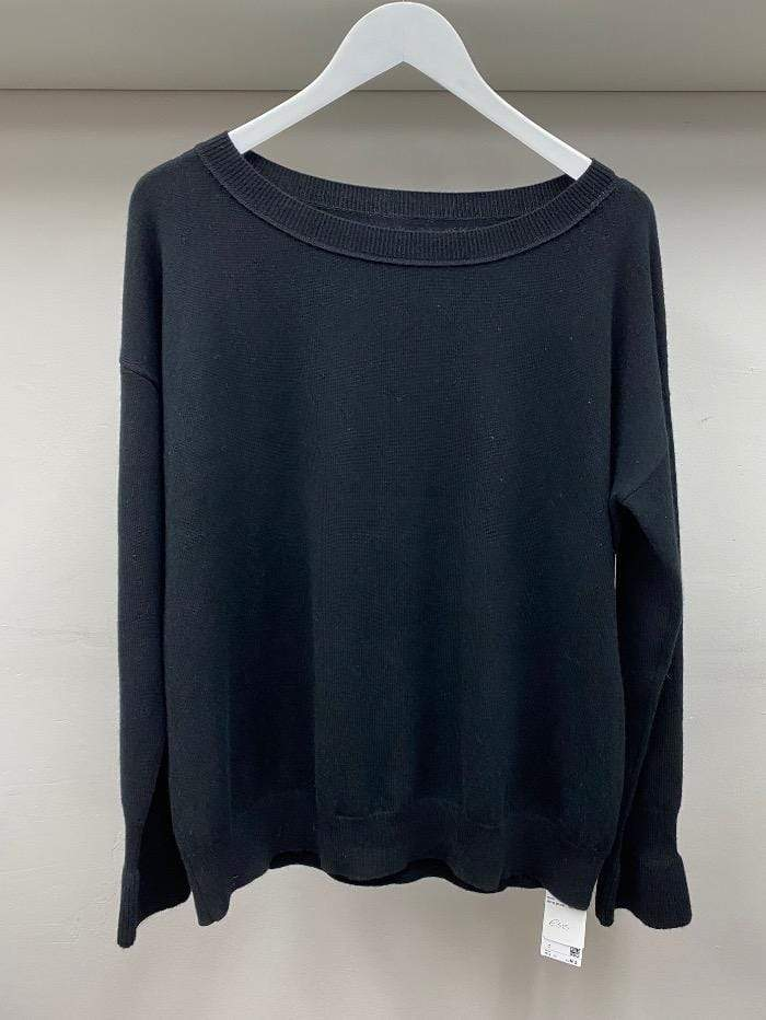 Marc Cain Collections Knitwear Marc Cain Collections Round Necked Jumper Black MC 41.38 M81 900 izzi-of-baslow