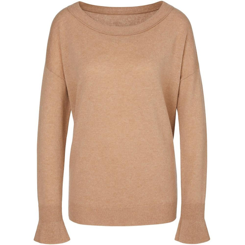 Marc Cain Collections Knitwear Marc Cain Collections Round Necked Jumper Caramel MC 41.38 M81 izzi-of-baslow